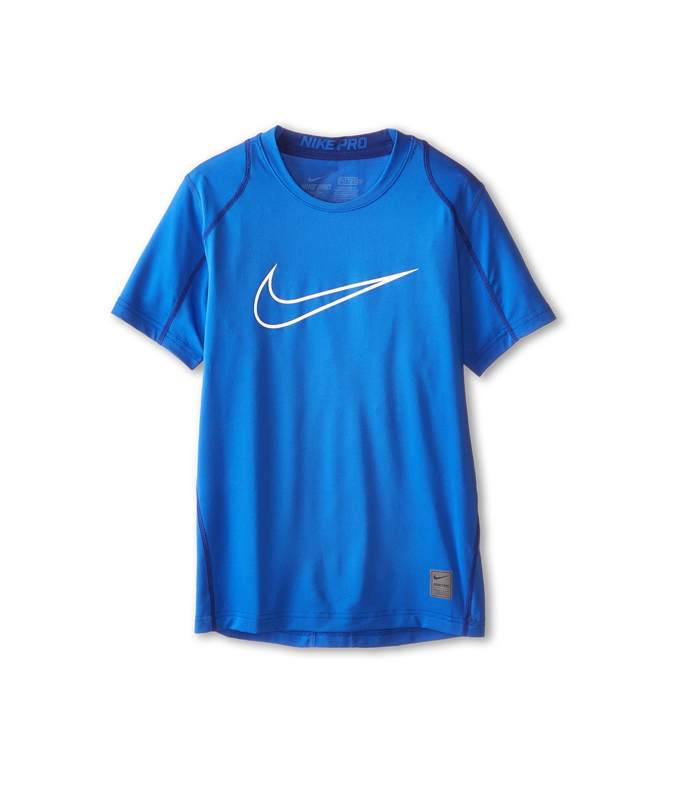 Nike Kids Cool HBR Fitted S/S Youth Little Kids/Bigs Kids Game Royal/Deep Royal Blue/White Boys T Shirt