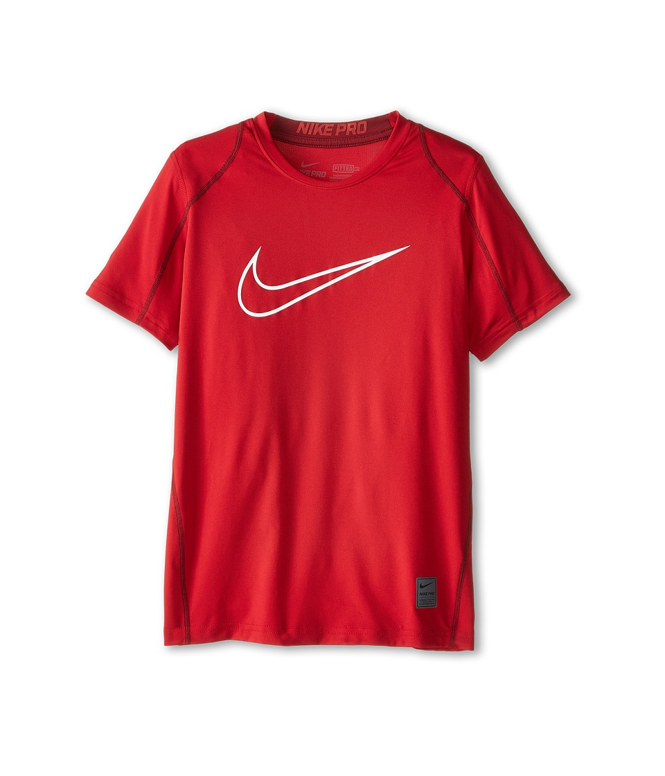Nike Kids Cool HBR Fitted S/S Youth Little Kids/Bigs Kids Gym Red/Team Red/White Boys T Shirt