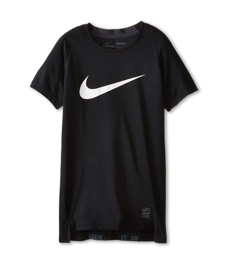 Nike Kids Cool HBR Compression S/S Youth Little Kids/Big Kids Black/Anthracite/White Boys T Shirt