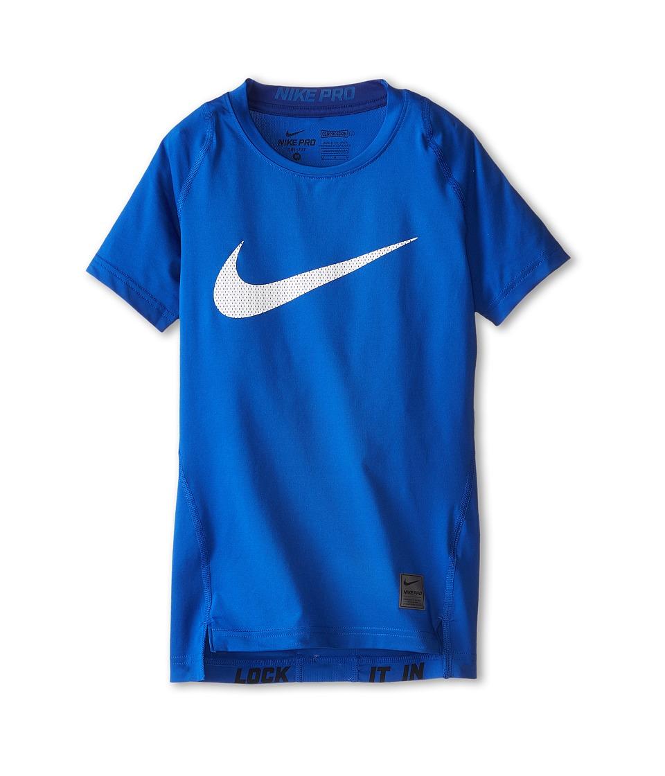 Nike Kids Cool HBR Compression S/S Youth Little Kids/Big Kids Game Royal/Deep Royal/White Boys T Shirt