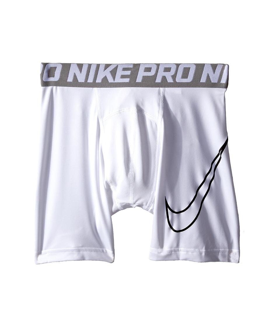 Nike Kids Cool HBR Compression Short Youth Little Kids/Big Kids White/Black Boys Shorts