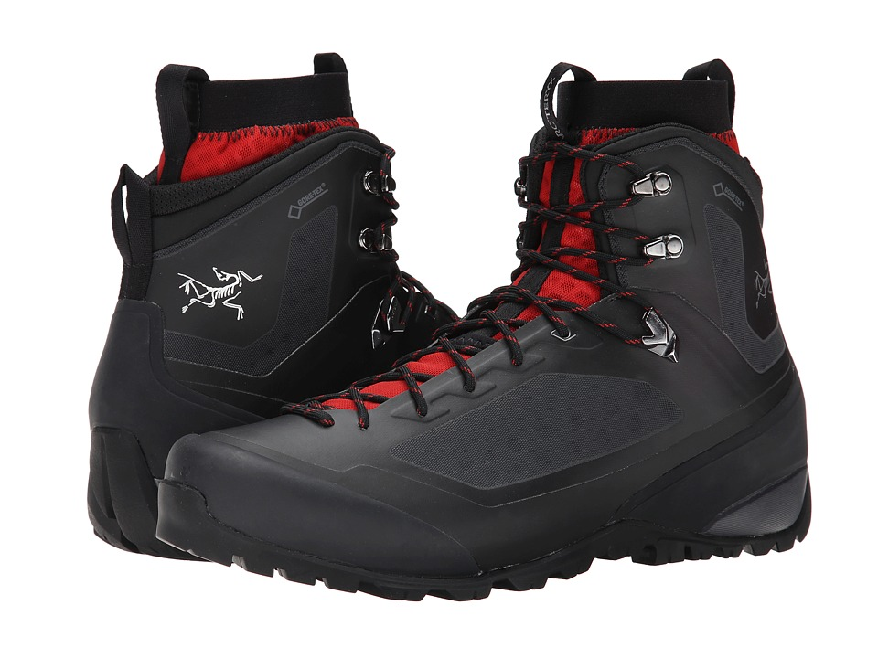 Arcteryx Bora2 Mid Black/Cajun Mens Shoes