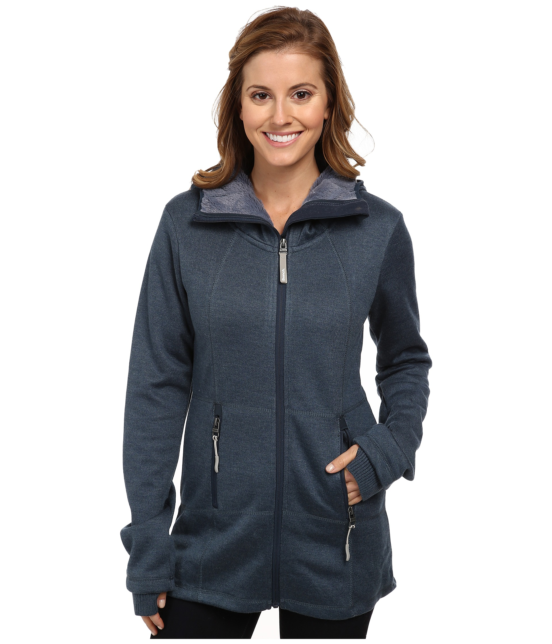 Bench Thinlined Zip Thru Hoodie Clothing Shipped Free At Zappos