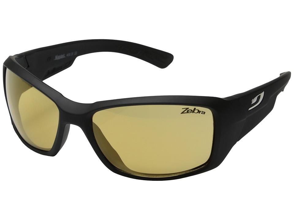 Julbo Eyewear Whoops Sunglasses (Matte Black + Wallpaper with Zebra Lenses) Sport Sunglasses