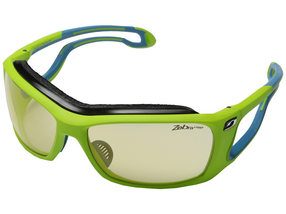 Julbo Eyewear Pipeline Sunglasses Lime Green with Zebra Light Lenses Sport Sunglasses