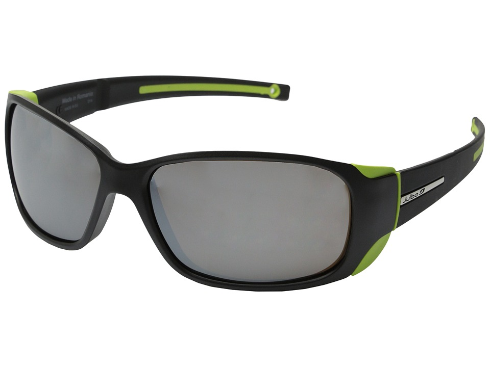 Julbo Eyewear Montebianco Sunglasses Matt Black/Lime with Spectron 4 Lenses Sport Sunglasses