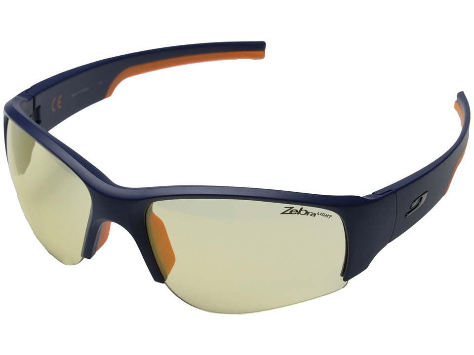 Julbo Eyewear Dust Sunglasses Blue/Orange with Zebra Light Hard Lenses Sport Sunglasses