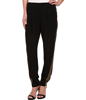 DKNY Jeans - Crepe Track Pant w/ Metallic Racing Stripe