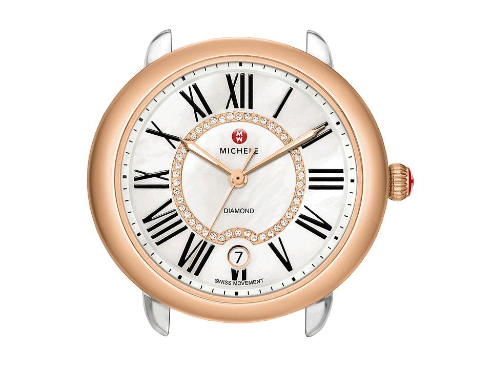 Michele Serein 16 Diamond Dial Two Tone Rose Gold Watch Head Two Tone Rose Gold Watches