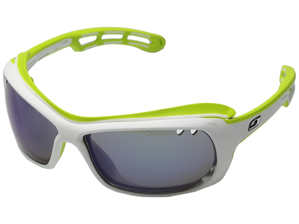 Julbo Eyewear Wave Sunglasses White/Green with Octopus Lenses Sport Sunglasses
