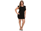 rsvp Plus Size Harper Ruffle Arm Dress (Black)