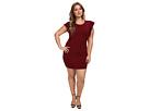 rsvp Plus Size Harper Ruffle Arm Dress (Brugundy)