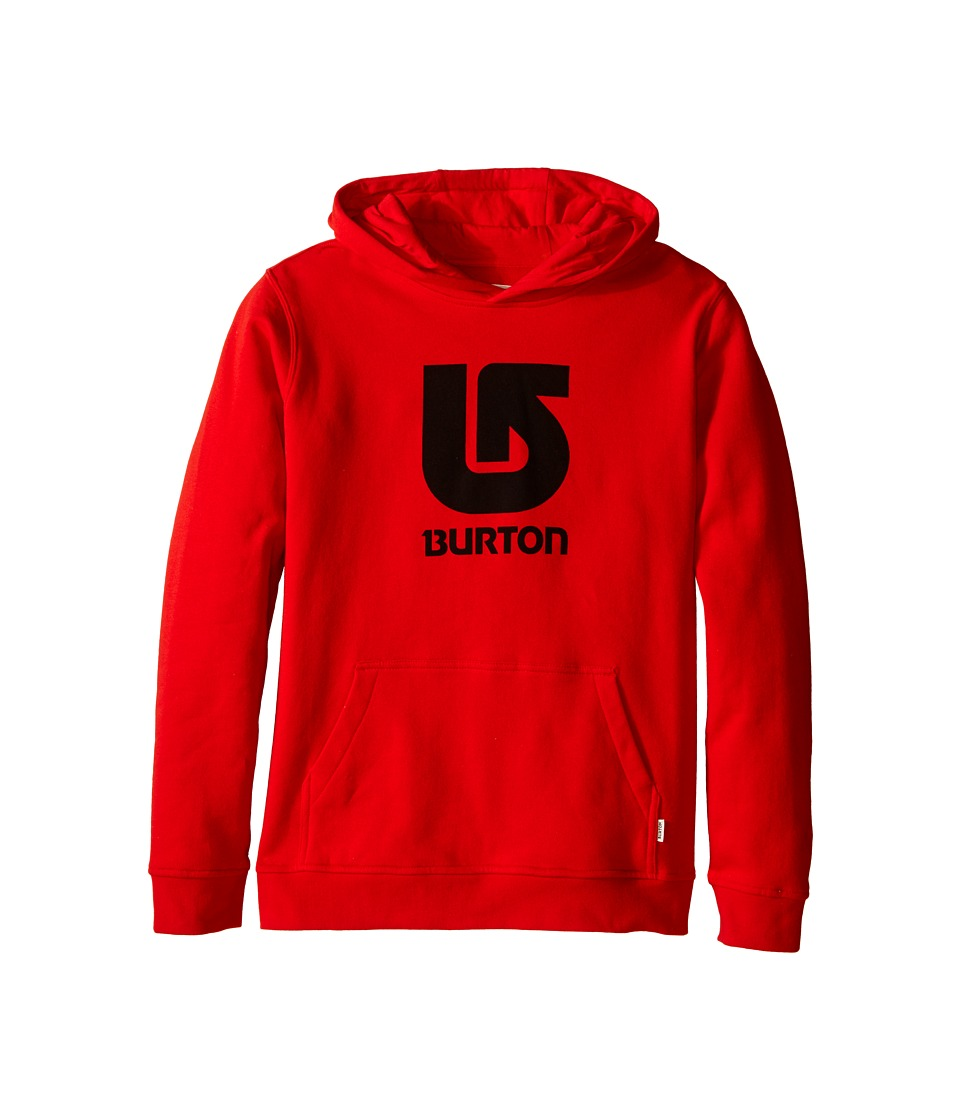 Burton Kids Logo Vertical Pullover Hoodie Big Kids Fiery Red Boys Sweatshirt