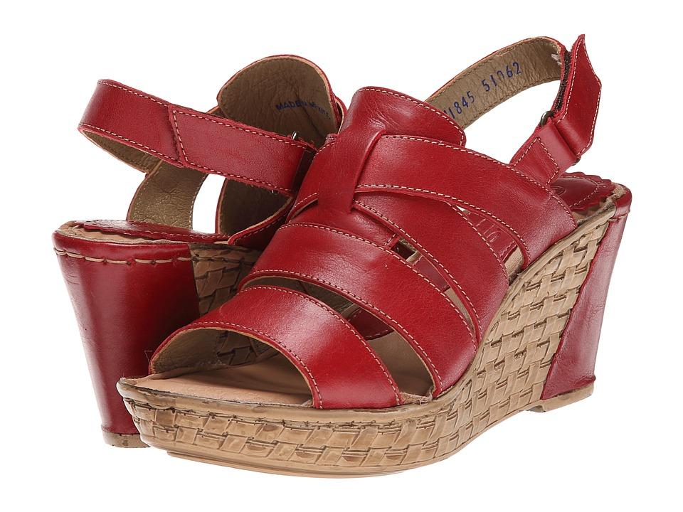 Lobo Solo - Kaui (Red Leather) Women's Sandals