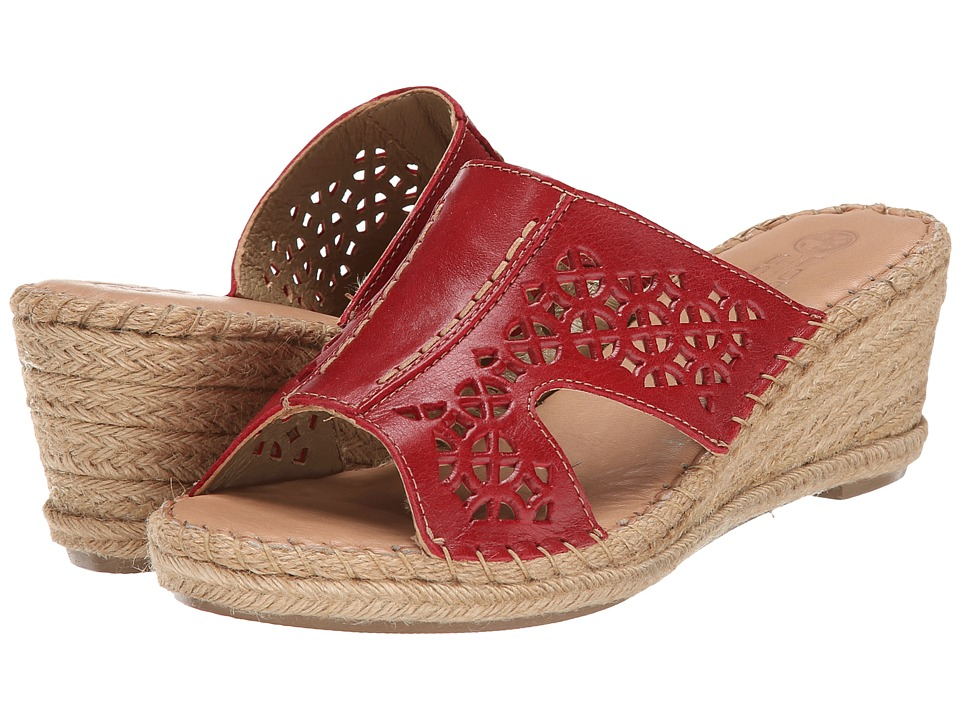 Lobo Solo - Serenity (Red Leather) Women's Sandals