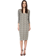 Just Cavalli - 3/4 Sleeve V-Neck Printed Dress