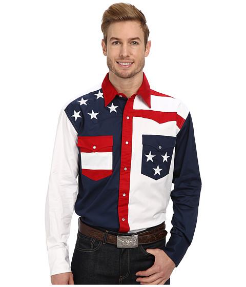 Roper Pieced Stars and Stripes Patriotic - Blue