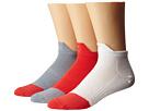Nike Dri-FIT Lightweight Low Quarter 3-Pack (White/Daring Red/Daring Red/Dark Grey/Dark Grey/Daring Red)
