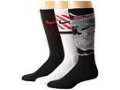 Nike Dri-FIT Triple Fly Crew 3-Pack (Black/University Red/Black/University Red/White/Black)