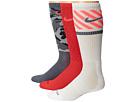 Nike Dri-FIT Triple Fly Crew 3-Pack (Daring Red/Hot Lava/Base Grey/hot Lava/White/Base Grey)