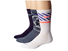 Nike Dri-FIT Triple Fly Crew 3-Pack (Ink/Ice/Base Grey/White/Hot Lava)