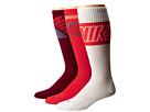 Nike Dri-FIT Crew Sock 3-Pair Pack (Daring Red/Base Grey/Daring Red/White/Daring Red/Team Red/Daring)