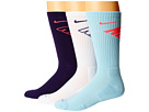 Nike Dri-Fit Fly Crew 3-Pair Pack (Ice/Hot Lava/White/Ink/Ink/Hot Lava)