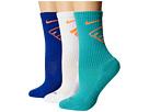 Nike Dri-Fit Fly Crew 3-Pair Pack (Light Retro/Total Orange/White/Total Orange/Game Royal/Total Ora)