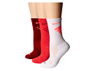 Nike Dri-Fit Fly Crew 3-Pair Pack (white/Hot Lava/Daring Red/Team Red/Team Red/Hot Lava)