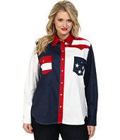 Roper - Plus Size Pieced Stars and Stripes Patriotic