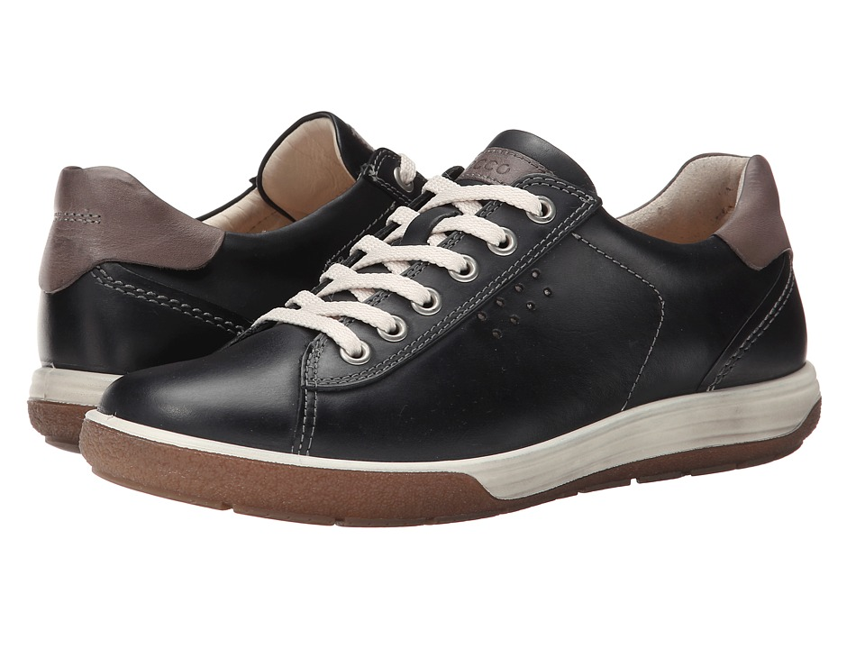 ECCO Chase II Tie Black/Dark Clay Womens Lace up casual Shoes