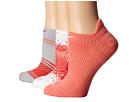 Nike Dri-Fit Graphic No-Show 3-Pair Pack (White/Sunblush/Sunblush/White/Grey Mist/Daring Red)