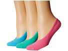 Nike 3 Pair Pack Lightweight Footie (Pink/White/Clearwater/White/Mint/White)