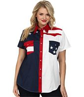 Roper - Plus Size Americana Pieced Color Block Top