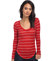 Free People - Yarn Dye Stripe Nicest Slub L/S Layering Me Top