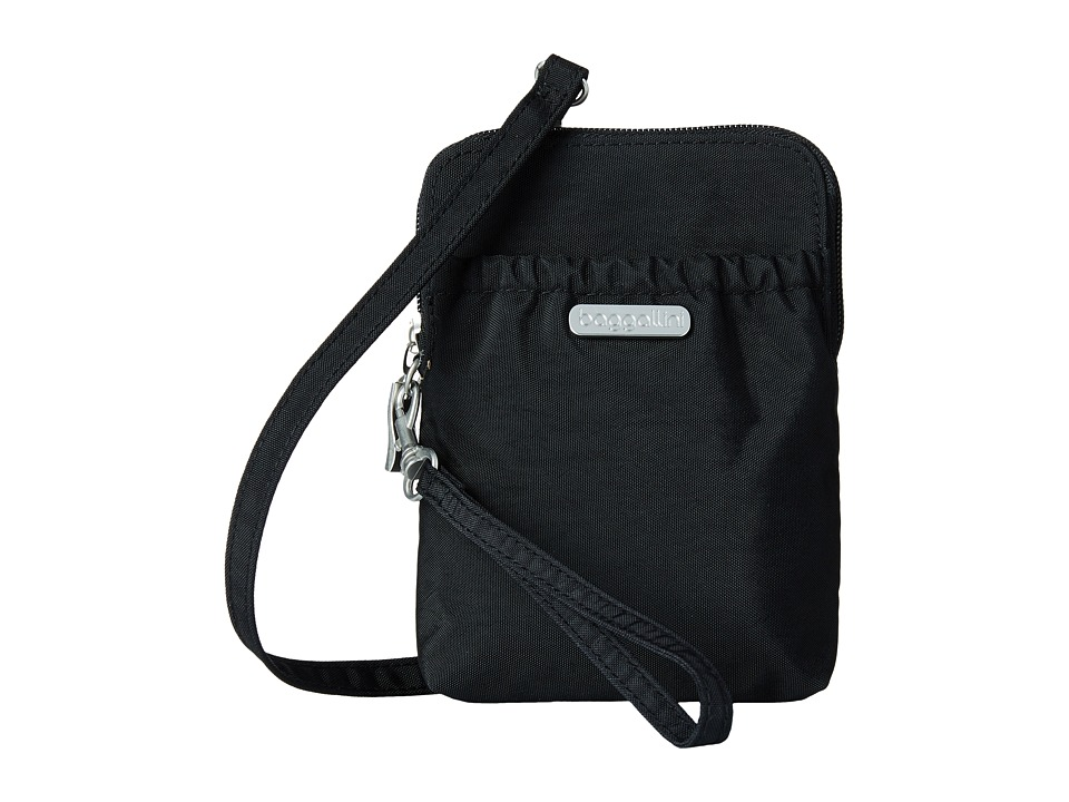 Baggallini Bryant Pouch (Black/Sand) Cross Body Handbags