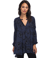Free People - Printed Snap Out Of It Rayon Tree Swing Top