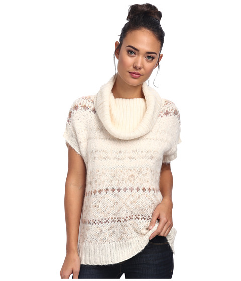 Free People Snow Bunny Turtle Neck Sweater Vest