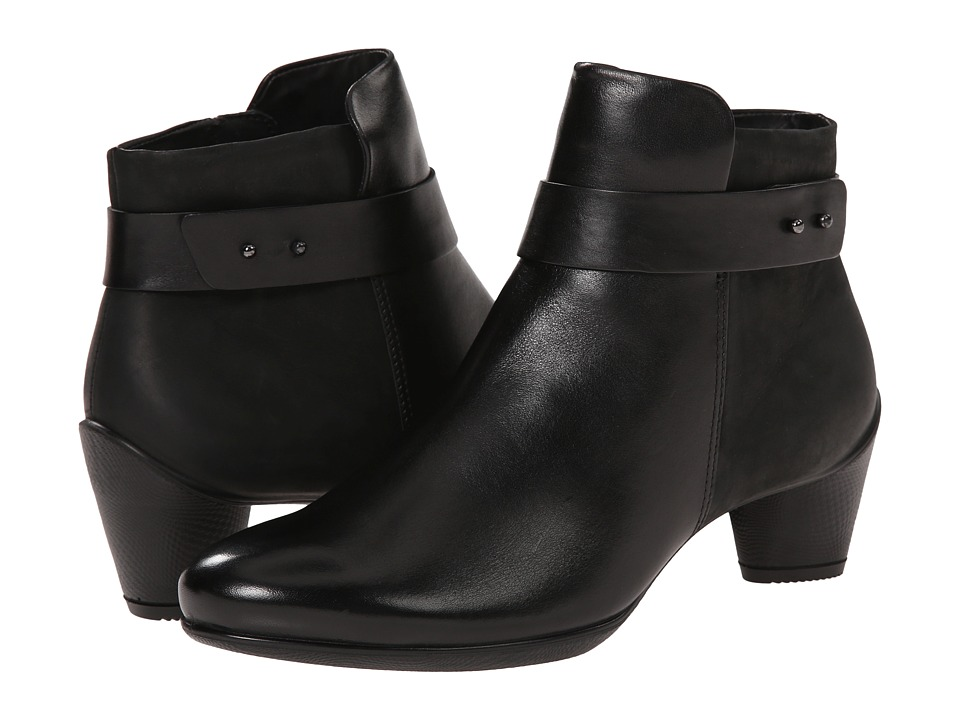 ECCO - Sculptured 45 Ankle Boot (Black/Black) Women