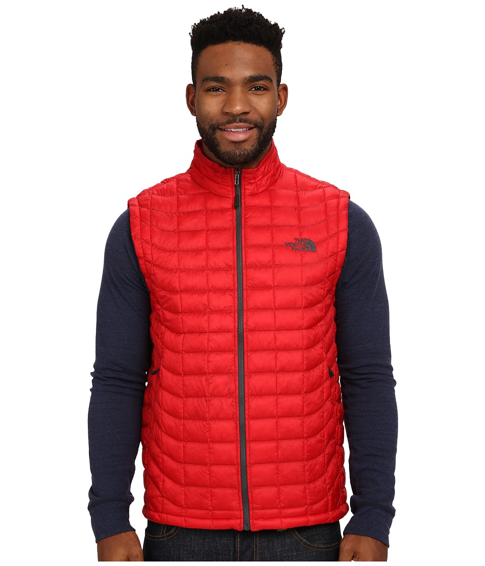 The North Face ThermoBall Vest TNF Red/Asphalt Grey Mens Vest