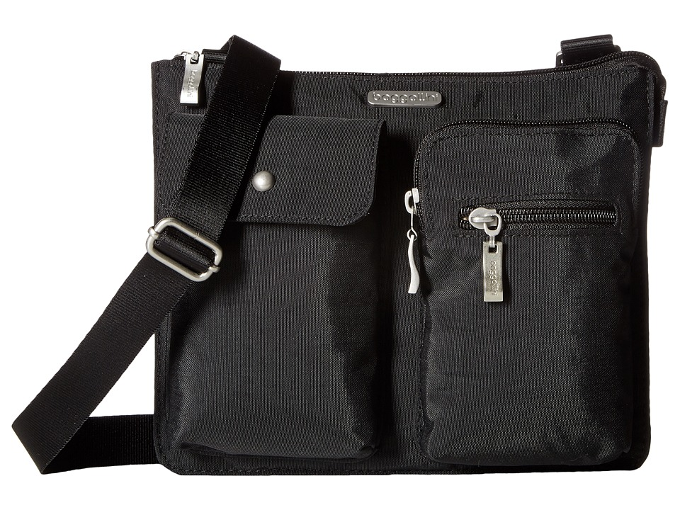 Baggallini Everything Bagg (Black/Sand) Cross Body Handbags