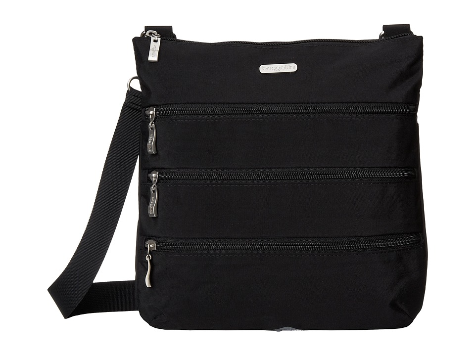 Baggallini Big Zipper Bag (Black/Sand) Bags