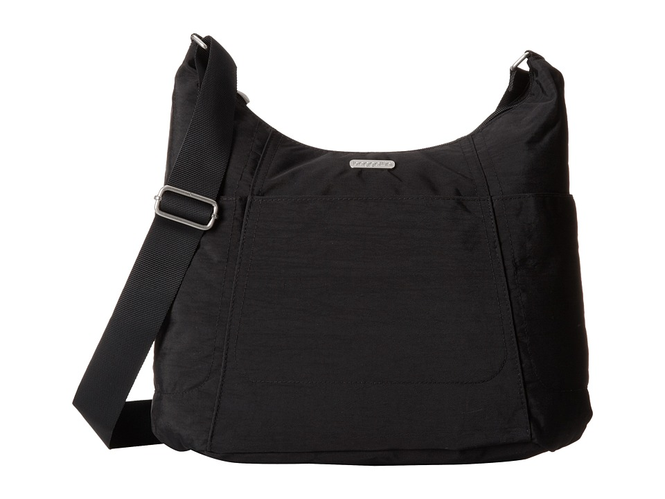 Baggallini Hobo Tote (Black/Sand) Cross Body Handbags