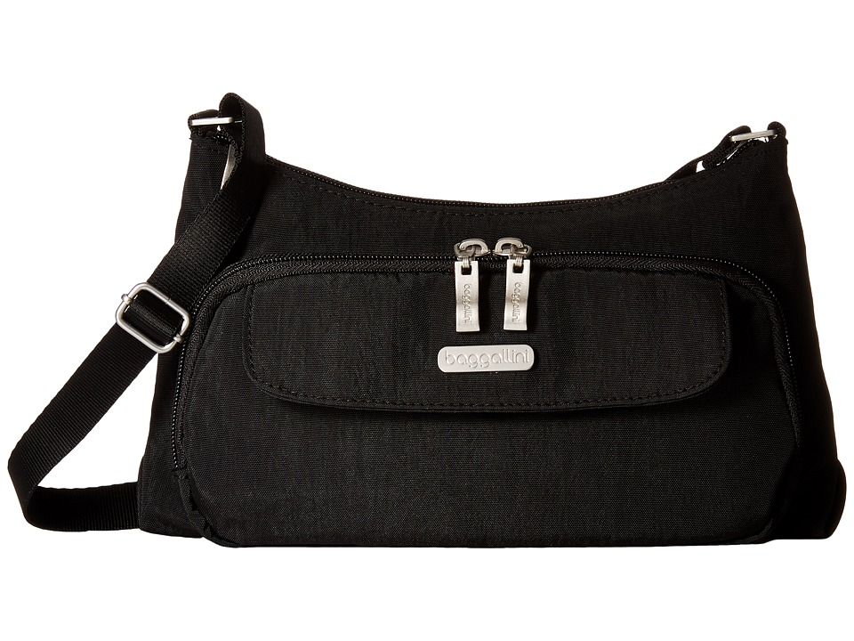 Baggallini Everyday Bagg (Black/Sand) Cross Body Handbags