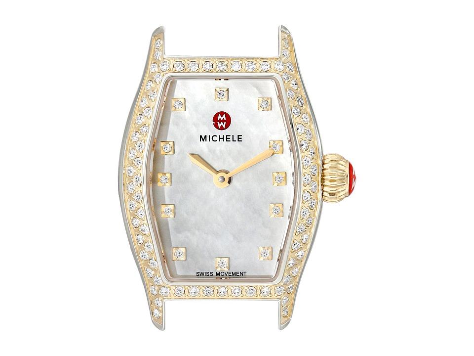 Michele Urban Coquette Diamond Diamond Dial Two Tone Watch Head Two Tone Watches