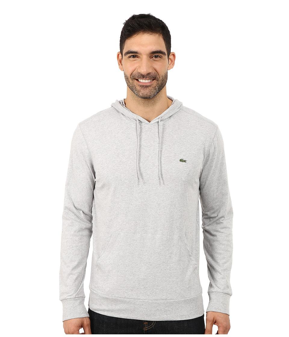 Lacoste - Jersey T-Shirt Hoodie (Silver Grey Chine) Men's Sweatshirt