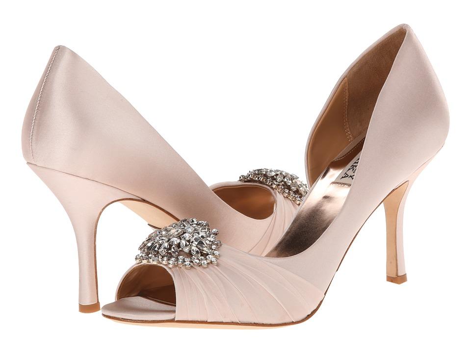 Badgley Mischka Pearson (Light Pink Satin) High Heels
