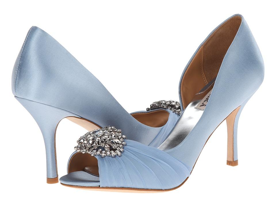 blue wedding shoes blue bridal shoes blue satin shoes