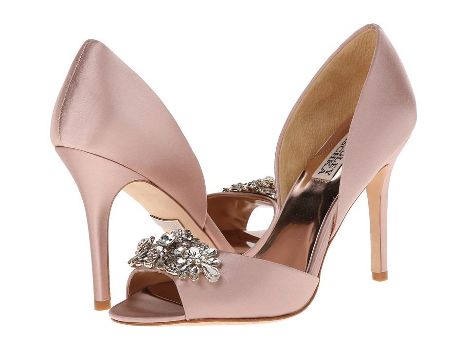 Badgley Mischka Giana Blush Satin High Heels