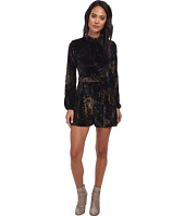 Free People - Velvet Printed Long Sleeved Romper